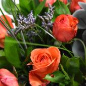 Μπουκέτο πορτοκαλί τριντάφυλλα