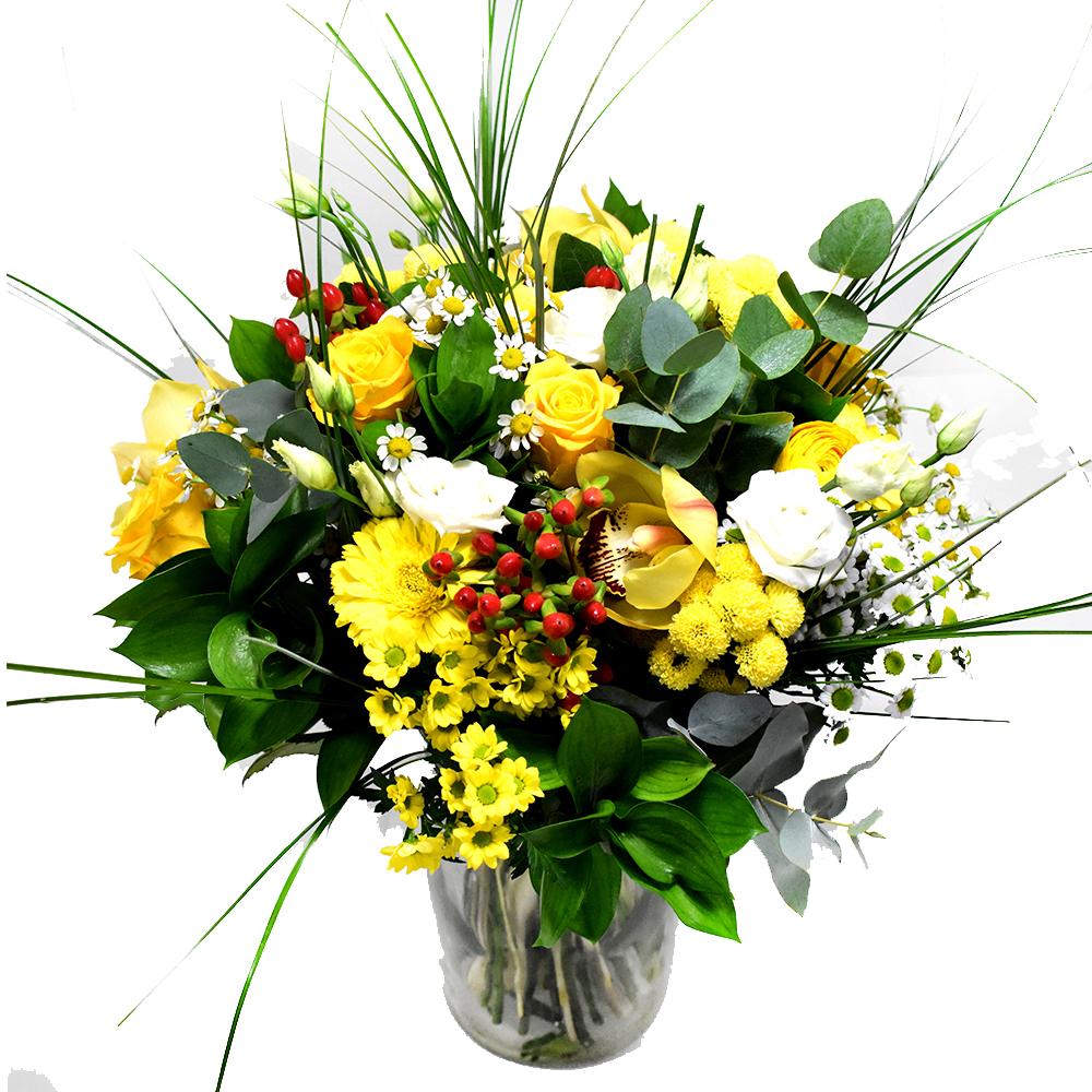 Bouquet with yellow flowers - Αποστολή λουλουδιών στο Ηράκλειο ...