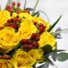 Μπουκέτο με κίτρινα τριαντάφυλλα 2