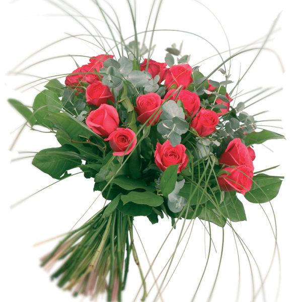 Μπουκέτο με φούξια τριαντάφυλλα