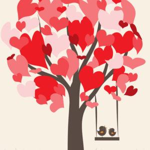 Δέντρο με καρδούλες
