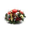 Στρογγυλή Χριστουγεννιάτικη σύνθεση