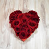Big red heart with red roses