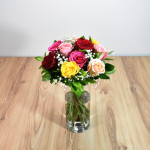 Mix bouquet roses