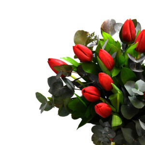 Bouquet with red tulips