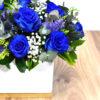Κύβος μπλε τριανταφυλλα