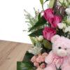 Σύνθεση ροζ με αρκούδο