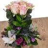 Σύνθεση ροζ τριαντάφυλλα